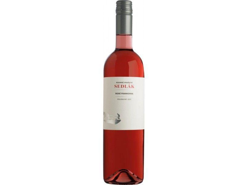 Frankovka rosé 2018, MZV, polosuché, 0,75 l - vinařství Sedlák