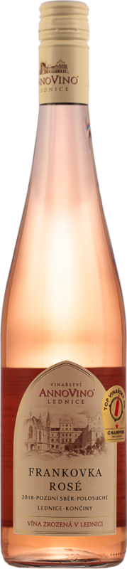 Frankovka rosé, 2018, pozdní sběr, polosuché, 0,75 l - vinařství Lednice Annovino