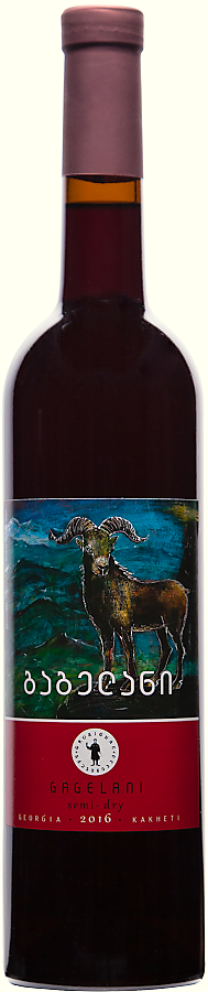Grusignac Gagelani, polosuché červené víno, 2016, 0,75 l
