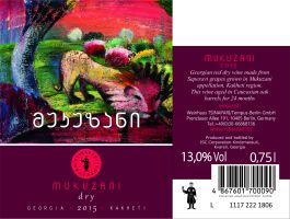 Grusignac Mukuzani, suché, červené víno, 2015, 0,75 l