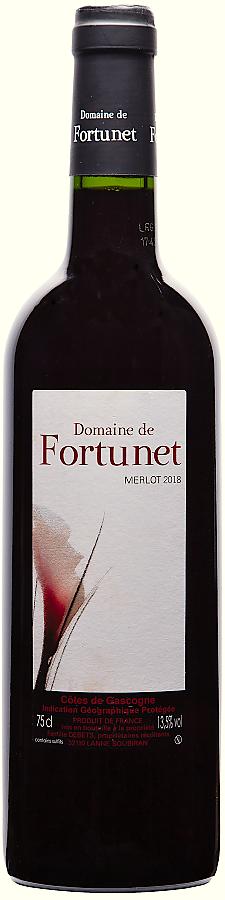 Merlot - Domaine de Fortunet, 2017, suché, 0,75 l