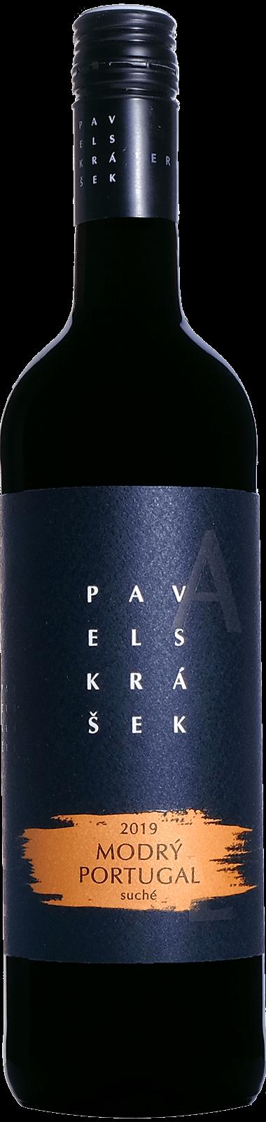 Modrý portugal 2019, MZV, suché, 0,75 l - vinařství Pavel Skrášek