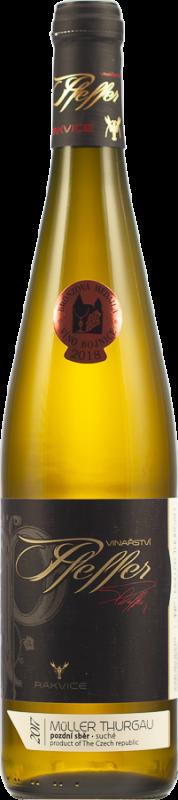 Müller Thurgau, 2017, pozdní sběr, suché, 0,75 l - vinařství Pfeffer