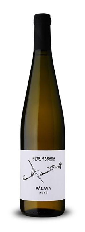 Pálava 2018, pozdní sběr, suché, 0,75 l - vinařství Marada