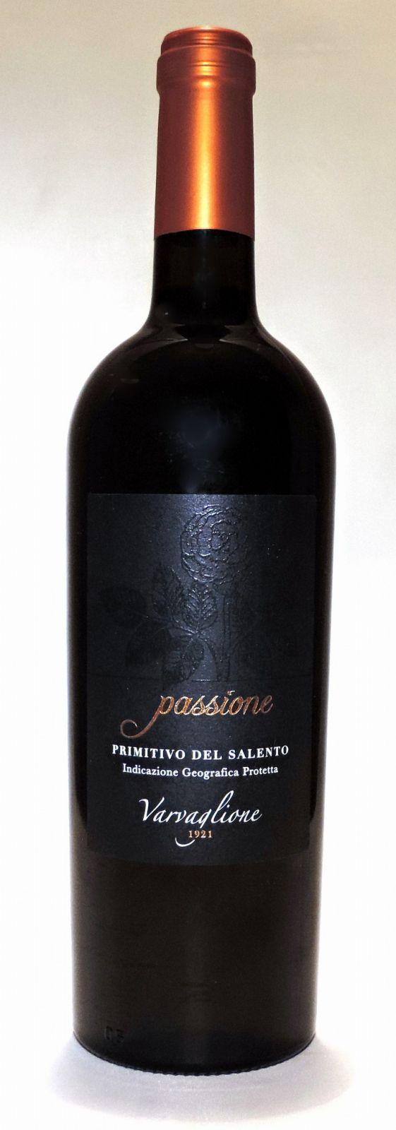 Passione - Primitivo del Salento IGP, 2017, 0,75 l - vinařství Varvaglione
