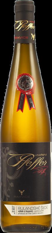 Rulandské šedé 2018, výběr z hroznů, polosuché, 0,75 l - vinařství Pfeffer
