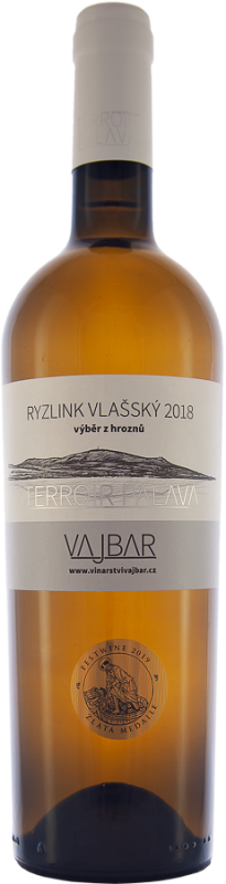 Ryzlink vlašský - Terroir Pálava, 2018, výběr z hroznů, suché, 0,75 l - vinařství Vajbar
