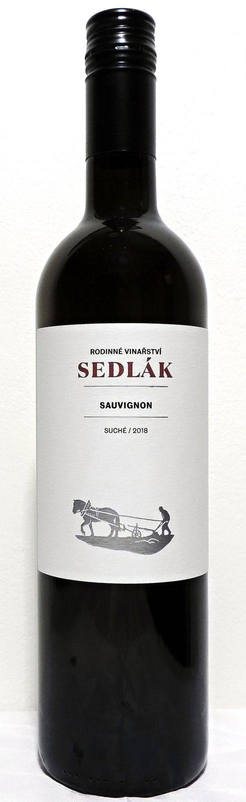 Sauvignon 2018, MZV, suché, 0,75 l - vinařství Sedlák