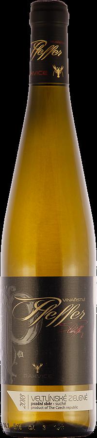 Veltlínské zelené 2018, pozdní sběr, suché, 0,75 l - vinařství Pfeffer